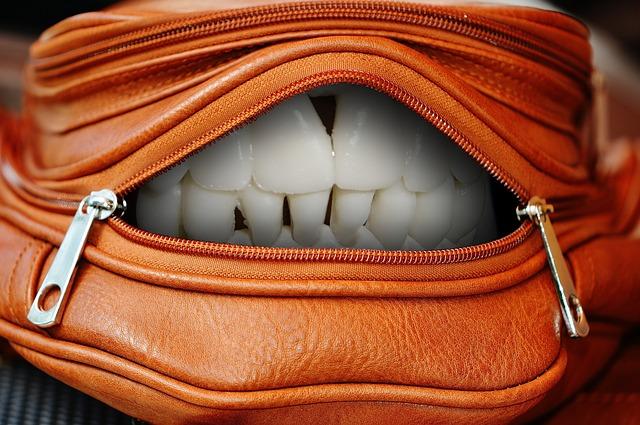 zuby v tašce